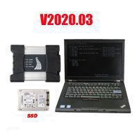 V2020.03 BMW ICOM Next A+B+C Diagnose mit Second Hand Lenovo T410 Laptop I5 CPU 4GB No Needs Activation