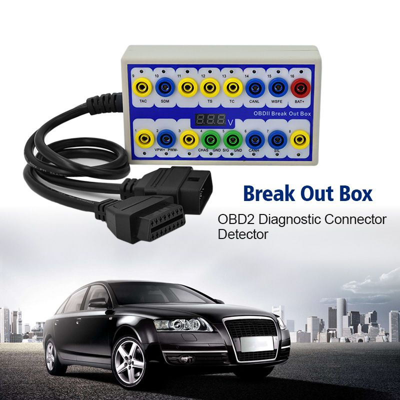 Newest OBDII Break out Box obd Break out Box Car Protocol Detector