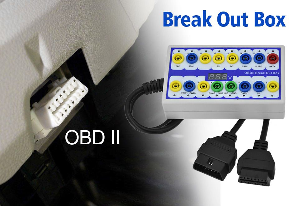 OBDII Protocol Detector & Break Out Box