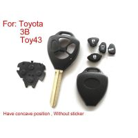 Remote Key Shell 3 Button (Have Concave Position Without Sticker) for Toyota 5pcs/lot