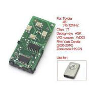 Toyota Smart Card Board 4 Buttons 315.12MHZ Number 271451-5290-Eur